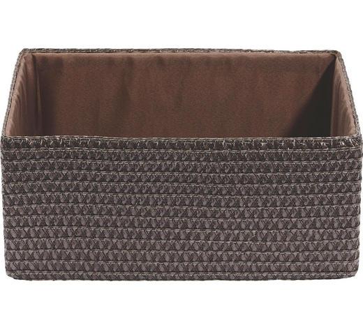 REGALKORB 32/23/14 cm  - Braun, Basics, Kunststoff/Textil (32/23/14cm) - Landscape