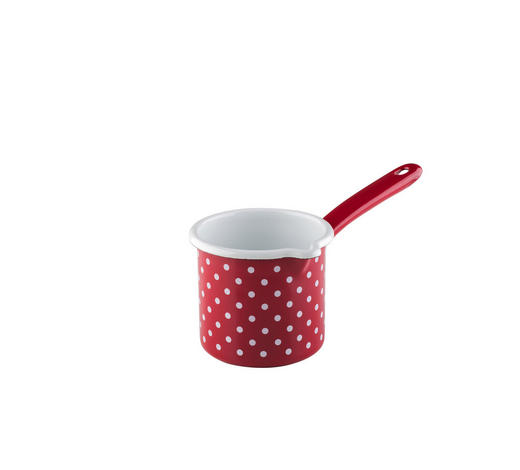 SCHNABELTOPF 0.75 L - Rot/Weiß, LIFESTYLE, Metall (23/12,70/12,40cm) - Riess