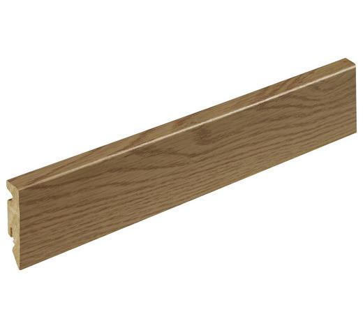 LIŠTA SOKLOVÁ  (za kus) - barvy dubu, Konvenční, kompozitní dřevo (1,5/5,8/240cm)