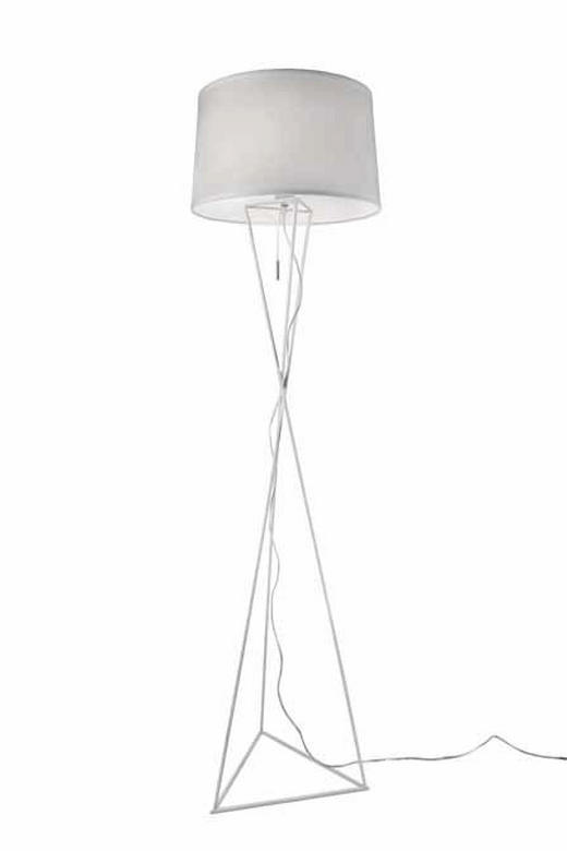 STEHLEUCHTE - Weiß, LIFESTYLE, Metall (40/150cm)