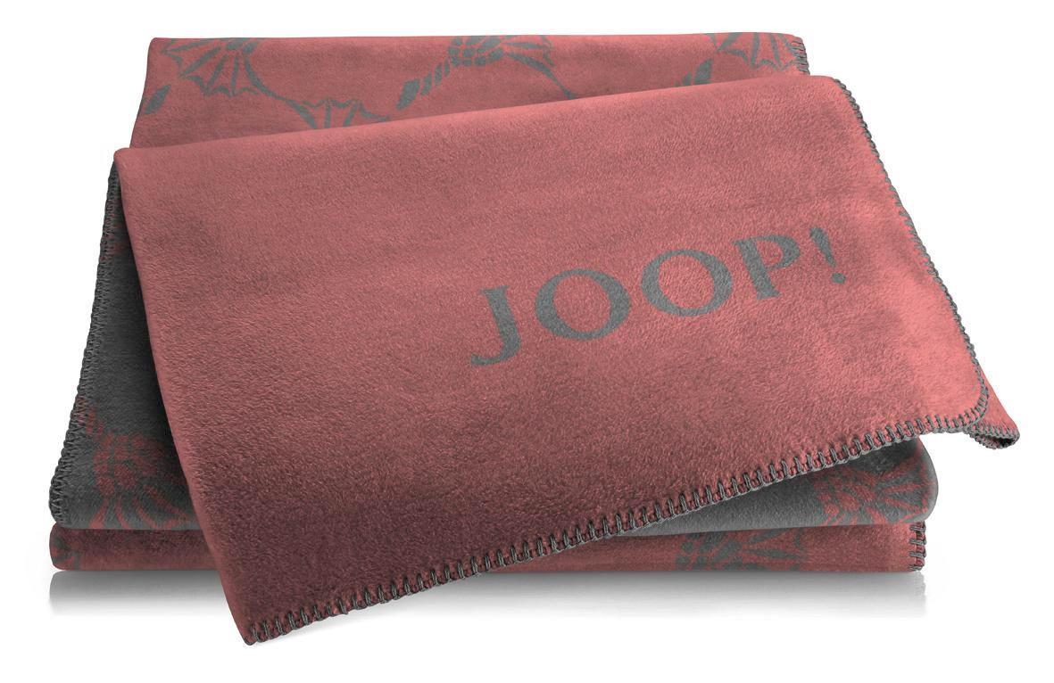 WOHNDECKE 150/200 cm Rot, Schieferfarben - Schieferfarben/Rot, Textil (150/200cm) - JOOP!