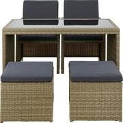 VRTNA GARNITURA - siva/smeđa, Design, metal/tekstil (120/72/60cm) - AMBIA GARDEN