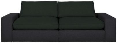 MEGASOFA in Textil Schwarz - Schwarz, Design, Kunststoff/Textil (266/84/123cm) - Hom`in