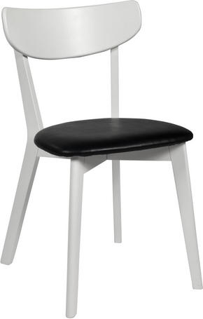 STOL - vit/svart, Klassisk, trä/plast (44/80/46cm) - Rowico