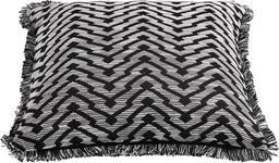 KISSENHÜLLE Schwarz, Weiß 45/45 cm  - Schwarz/Weiß, Design, Textil (45/45cm) - Novel
