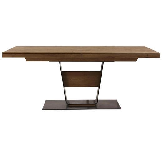 ESSTISCH in Holz, Metall 160/95/76 cm - Eichefarben/Anthrazit, Design, Holz/Metall (160/95/76cm) - Valnatura