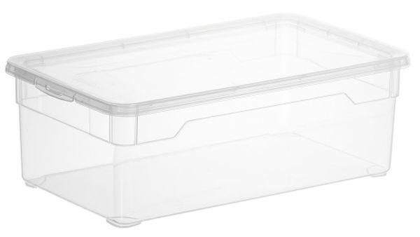 BOX MIT DECKEL - Klar, Basics, Kunststoff (33/19/11cm)