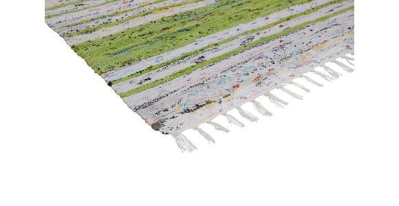 FLECKERLTEPPICH  - Weiß/Grün, KONVENTIONELL, Textil (80/150cm) - Boxxx