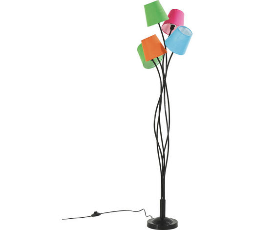 STEHLEUCHTE - Multicolor, Design, Kunststoff/Textil (55/142/55cm)