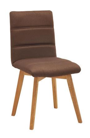 STOL - brun/ekfärgad, Klassisk, trä/textil (48/88/59cm) - Carryhome