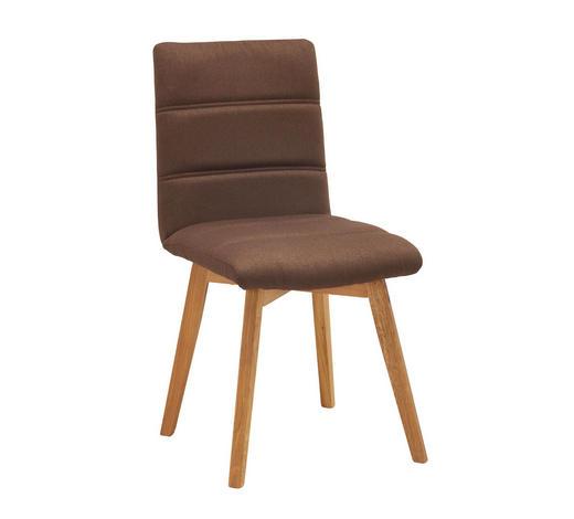 STOLICA - boje hrasta/smeđa, Konvencionalno, drvo/tekstil (48/88/59cm) - Carryhome