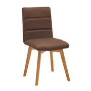 Stuhl in Holz, Textil Braun - Eichefarben/Braun, KONVENTIONELL, Holz/Textil (48/88/59cm) - Carryhome