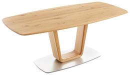 ESSTISCH Wildeiche massiv bootsförmig Eichefarben  - Eichefarben, Design, Holz (180/90/76cm) - Ambiente