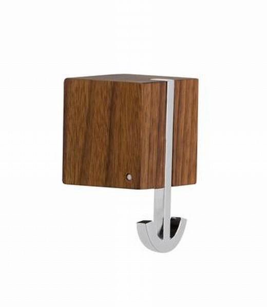 WANDHAKEN - Nussbaumfarben, Design, Holz (6/10/12cm)