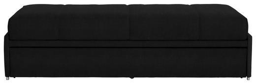 SCHLAFSOFA in Textil Schwarz - Schwarz, Design, Textil (212/56/98cm) - Bali
