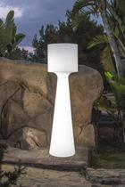 LED STEHLEUCHTE GRACE 170 - Weiß, Design, Kunststoff (46/170cm)