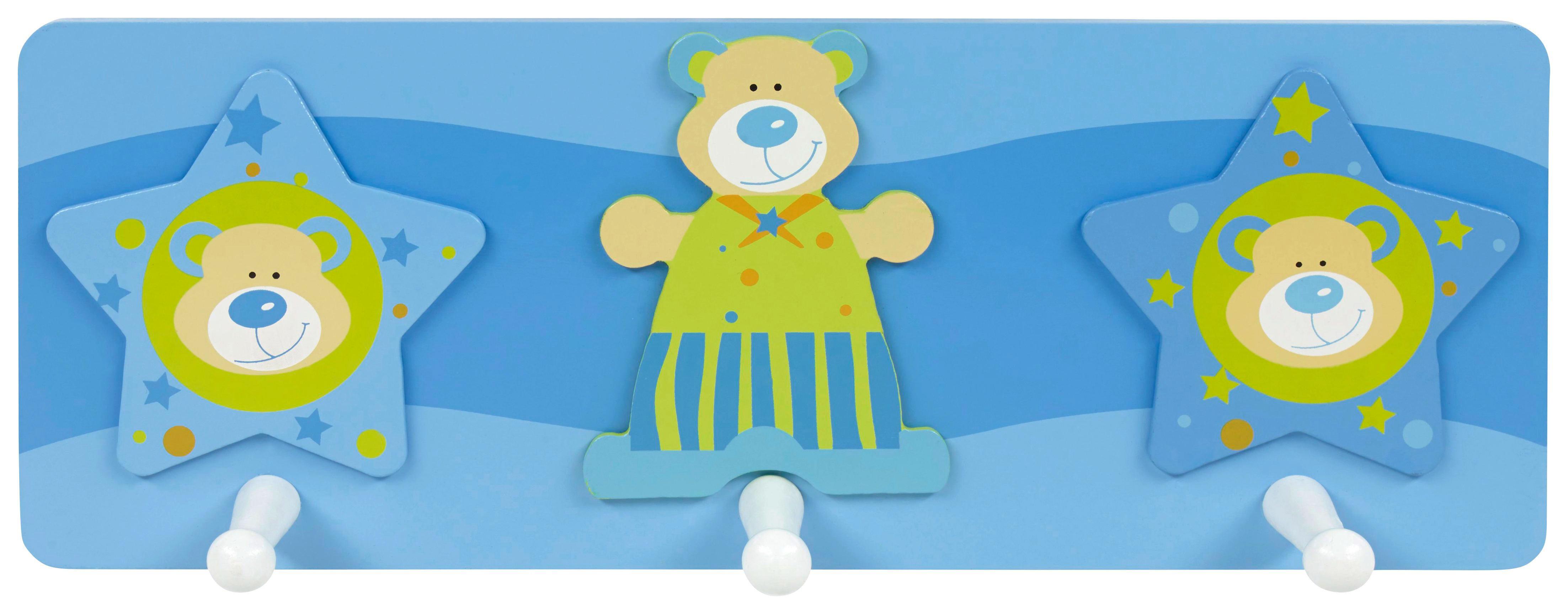 GARDEROBA ZIDNA - bijela/plava, Basics, drvni materijal/drvo (13/35cm) - MY BABY LOU