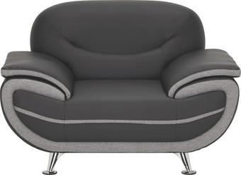 KŘESLO, černá, šedá, textil - šedá/černá, Design, kov/textil (126/85/87cm) - TI`ME