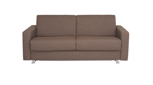 SCHLAFSOFA Flachgewebe Braun - Chromfarben/Braun, KONVENTIONELL, Textil/Metall (195/84/100cm)