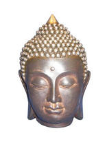 Buddhakopf - Multicolor, LIFESTYLE, Kunststoff (12/16,5cm) - Ambia Home