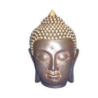 HLAVA BUDDHY - vícebarevná, Lifestyle, umělá hmota (12/16,5cm) - Ambia Home