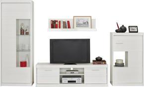 HYLLKOMBINATION - vit/silver, Design, metall/träbaserade material (300/190/35-42cm) - Mömax modern living