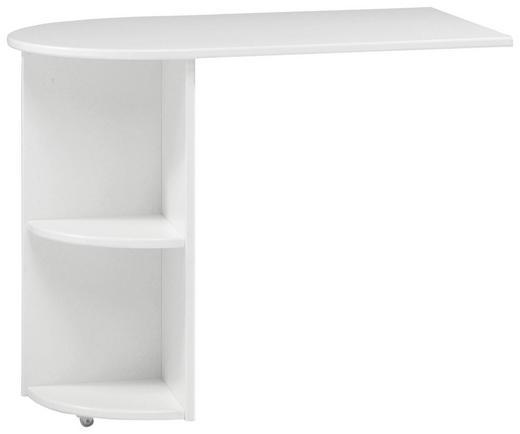 ANBAUSCHREIBTISCH Weiß - Weiß, Design (60/72/93cm) - CARRYHOME