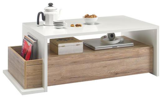 COUCHTISCH rechteckig Eichefarben, Weiß - Eichefarben/Weiß, Design (110/60/41cm) - Carryhome