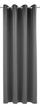 ZAVJESA S RINGOVIMA - siva, Konvencionalno, tekstil (140/245cm) - ESPOSA