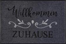 FUßMATTE 50/75 cm Texte Grau, Schwarz  - Schwarz/Grau, Basics, Kunststoff/Textil (50/75cm) - Esposa