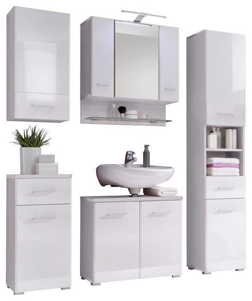 BADEZIMMER Weiß - Weiß, Design (146/190/31cm) - Xora