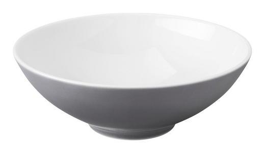 SCHÜSSEL Keramik Porzellan - Weiß/Grau, Basics, Keramik (21cm) - Seltmann Weiden