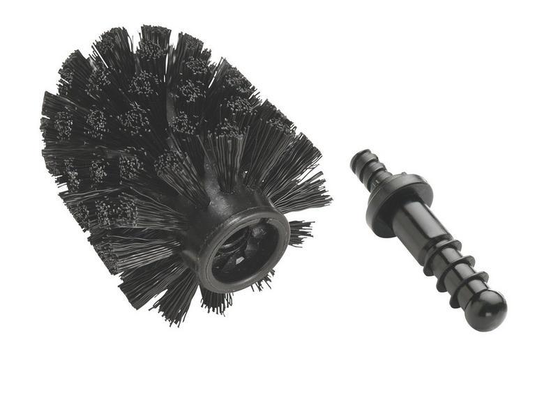 RESERVBORSTHUVUD - svart, Basics, plast (8,5cm)