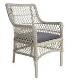 VRTNI STOL  pletivo iz umetne mase aluminij antracit, siva - siva/antracit, Trendi, kovina/umetna masa (57/89/69cm) - Ambia Garden