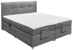 KONTINENTALSÄNG - silver/grå, Klassisk, textil/plast (180/200cm) - Esposa