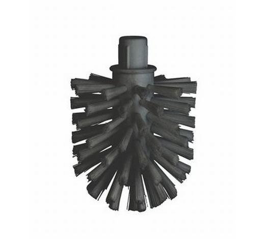 ERSATZBÜRSTENKOPF in  - Schwarz, Basics, Kunststoff (7,8/10,5cm)