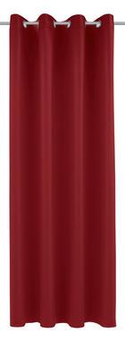 ZAVJESA S RINGOVIMA - tamno crvena, Konvencionalno, tekstil (140/245cm)