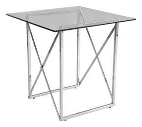 AVLASTNINGSBORD - kromfärg/transparent, Design, metall/glas (55/55/55cm)