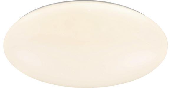 Led Deckenleuchte Johanna Ø 70 cm Dimmbar - Weiß, Basics, Kunststoff/Metall (70/10cm) - Luca Bessoni