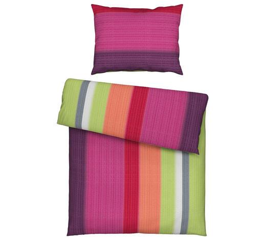 BETTWÄSCHE 140/200 cm - Pflaume/Grün, Trend, Textil (140/200cm) - Novel