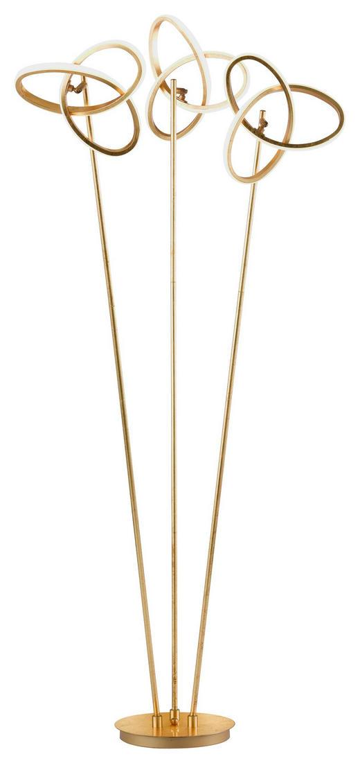 LED-STEHLEUCHTE - Goldfarben, MODERN, Metall (60/140/30cm) - Wofi