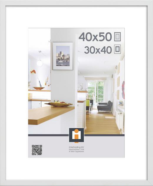 BILDERRAHMEN in Weiß - Weiß, Basics, Glas/Kunststoff (40/50cm)