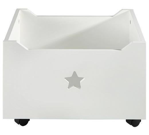 AUFBEWAHRUNGSBOX 40/34/27 cm  - Weiß, Design, Holz (40/34/27cm) - My Baby Lou