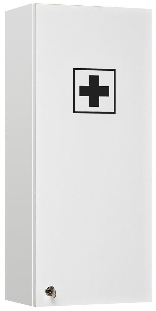 MEDIZINSCHRANK Weiß - Weiß, KONVENTIONELL, Glas (30/70/20cm) - Xora