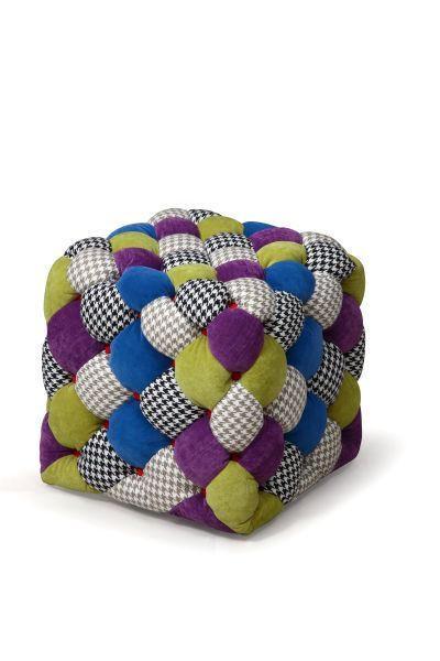 TABURE - večbarvno, Moderno, tekstil (46/45/46cm) - HOM`IN