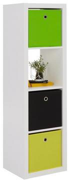 PREGRADA - bijela, Design, drvni materijal (41/147/38cm)