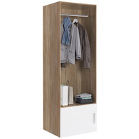 GARDEROBE - Eichefarben/Weiß, Design, Holzwerkstoff (50/185/40cm) - Xora