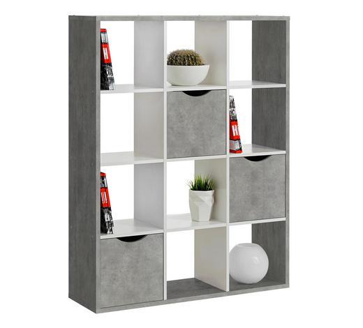 RAUMTEILER Grau, Weiß  - Weiß/Grau, Basics (110/146/34cm) - Carryhome