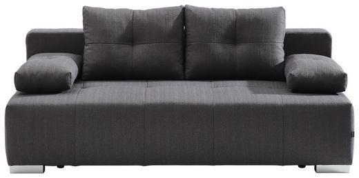 SCHLAFSOFA Webstoff Dunkelgrau - Chromfarben/Dunkelgrau, Design, Kunststoff/Textil (207/74-89/100cm) - Carryhome