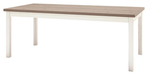 ESSTISCH EICHE NELSON rechteckig Eichefarben, Weiß - Eichefarben/Weiß, Design (160/90/76cm) - Set one by Musterrin